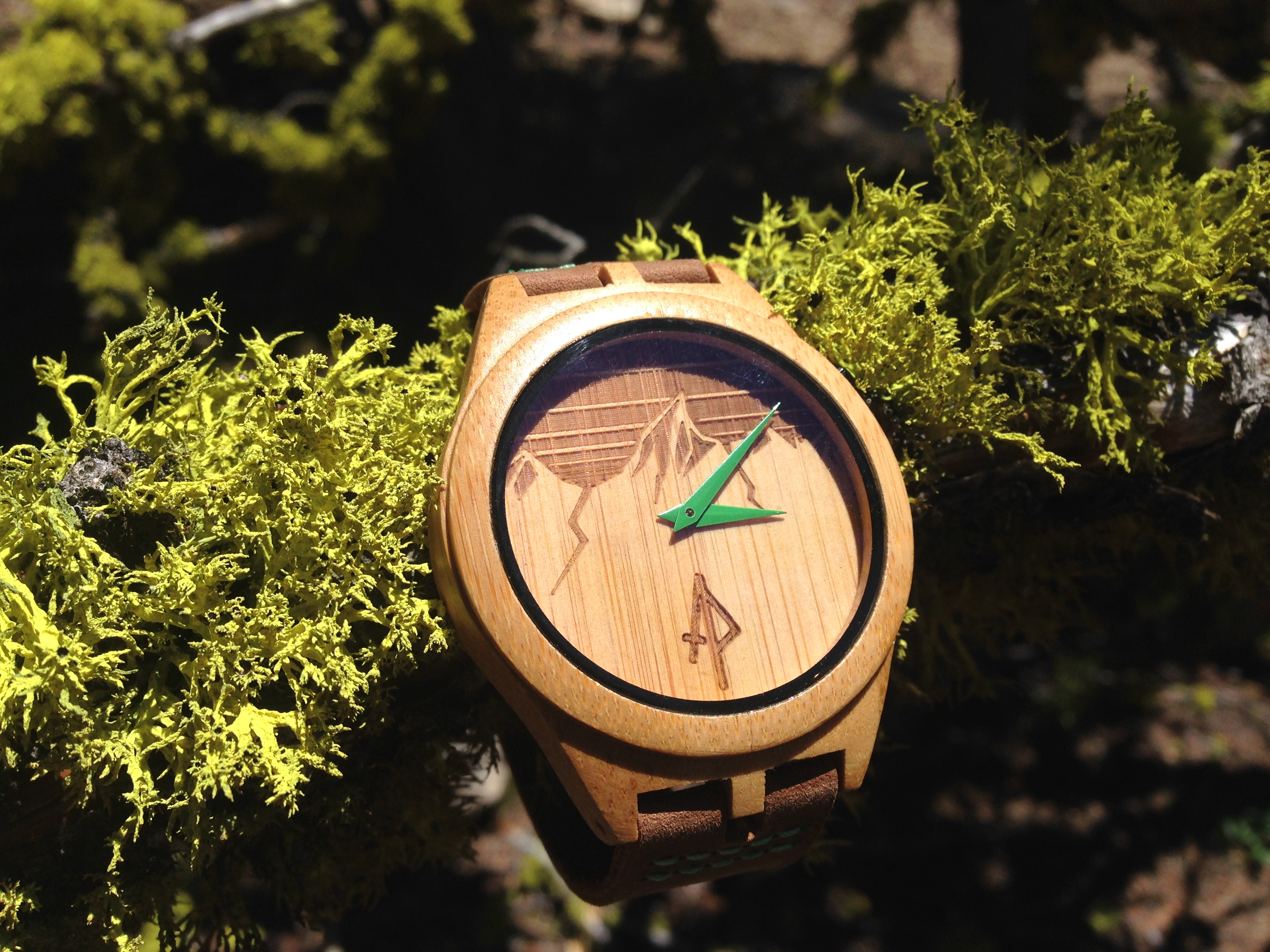 apache pine wooden watch